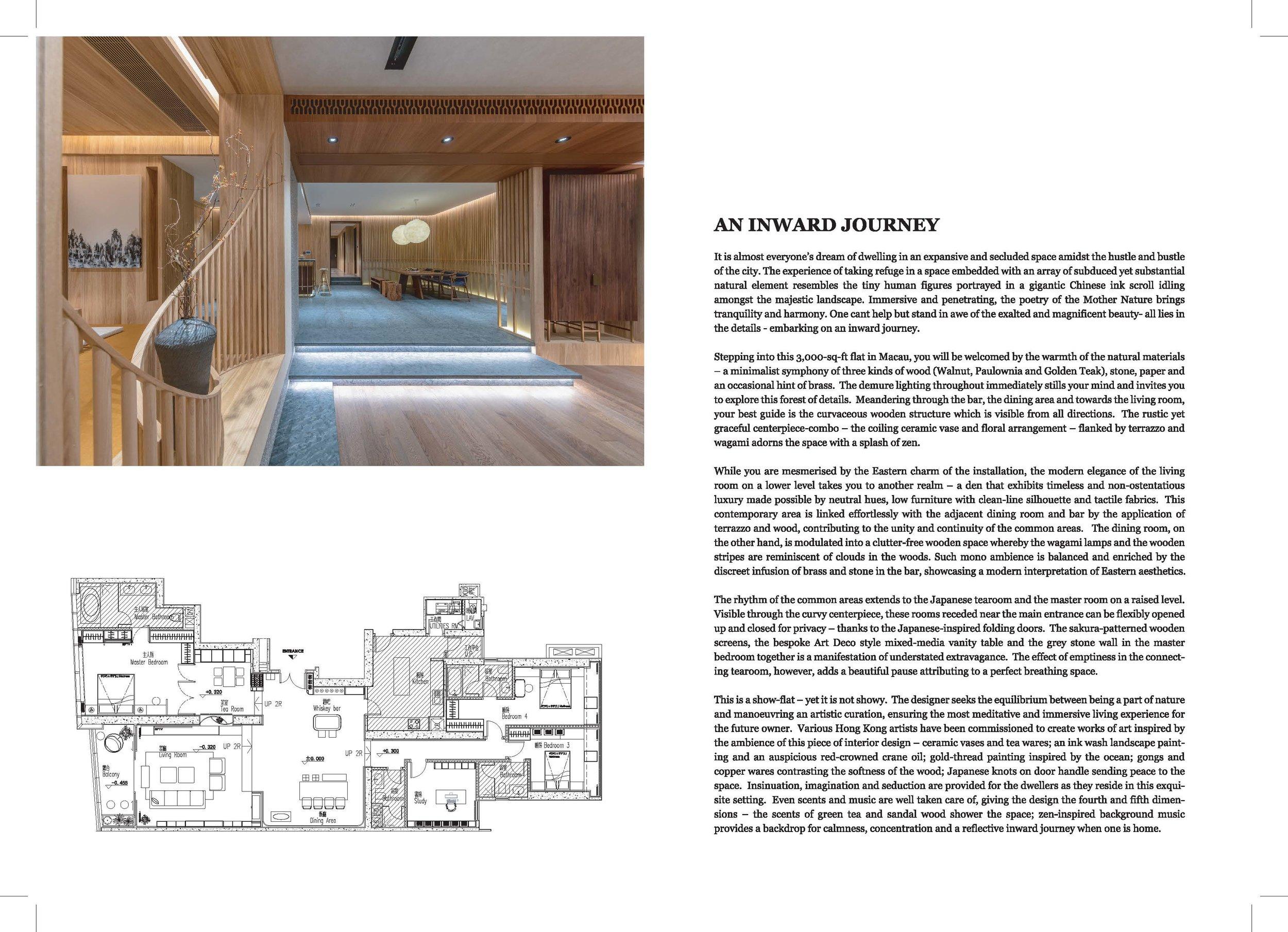 An Inward Journey - Design by: Max Lam DesignsInterior Division: ResidentialWebsite: https://maxlam.com