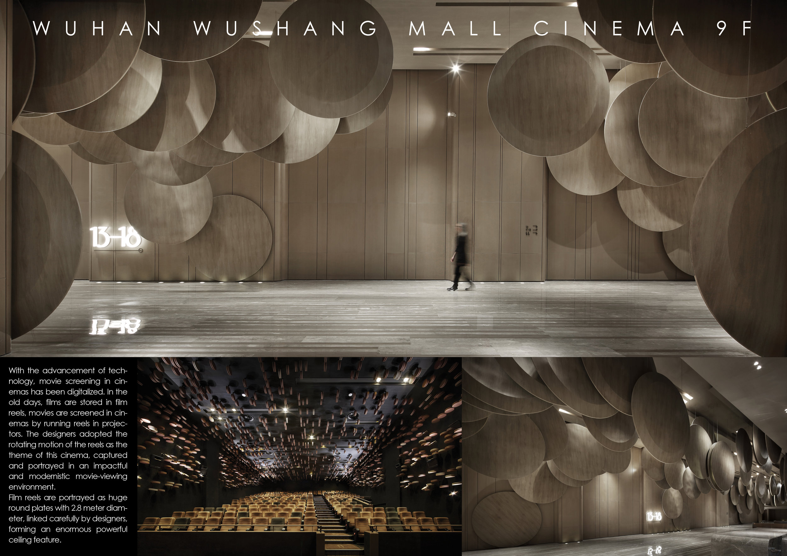 WUHAN WUSHANG MALL CINEMA 9F - Design by: One Plus Partnership LimitedInterior Division: LeisureWebsite: http://www.onepluspartnership.com