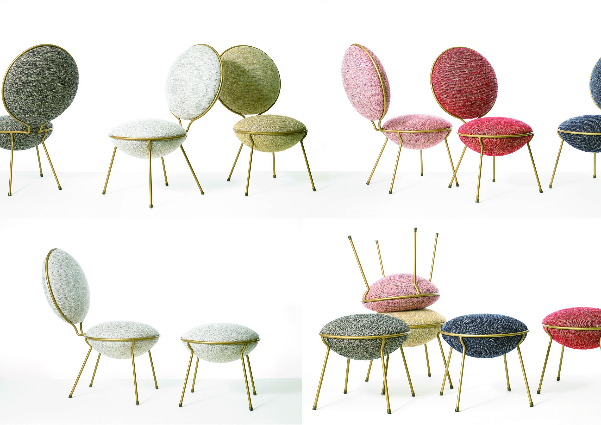 Project: Macaron Chair - Design by: Yoshiya Fukuda Architecture & DesignInterior Division: Furniture DesignWebsite: http://www.yoshiyafukuda.com