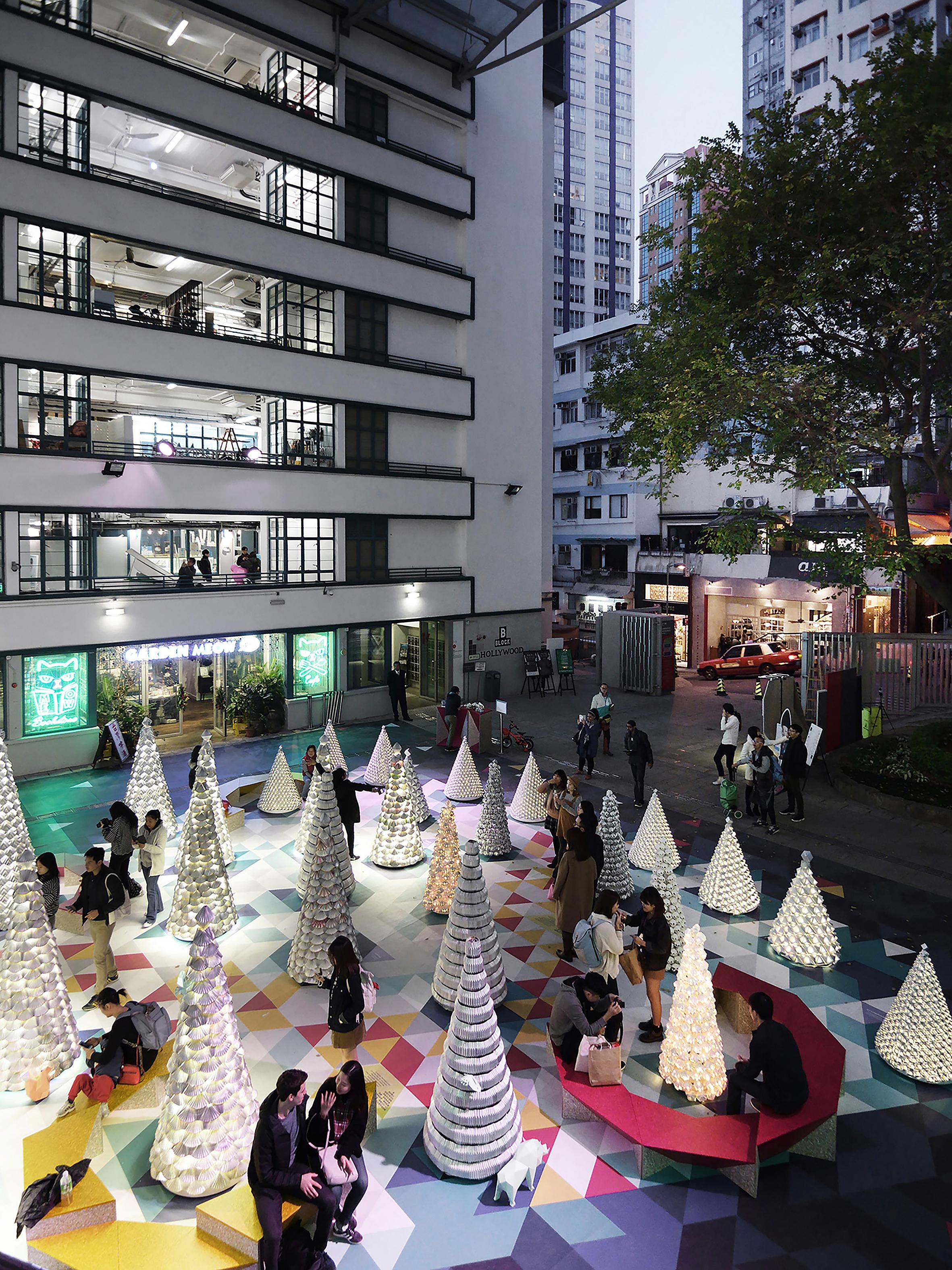 XMAS' TREE NURSERY - Design by: AaaM ARCHITECTSInterior Division: Pop-Up (Urban Design)Website: https://www.facebook.com/aaamarchi