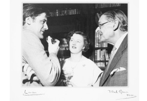 Ted Hughes with TS Eliot