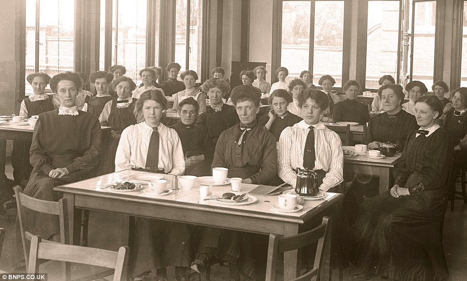 The women's canteen at Rowntree