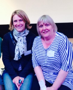 Jane Davis (right), the founder of the Reader Organization, with Sophie Howarth, co-founder of the School of Life
