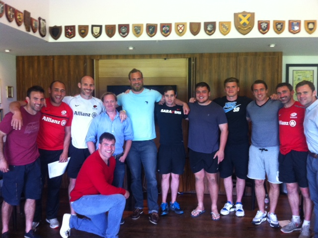The Saracens philosophy club (I'm the slightly smaller one in the middle)