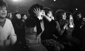 Audiences at rock concerts can exhibit some of the trance or mania aspects of religious revivals, as in this example of 'Beatle-mania'