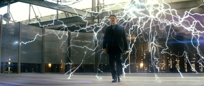 Bowie as Tesla in The Prestige