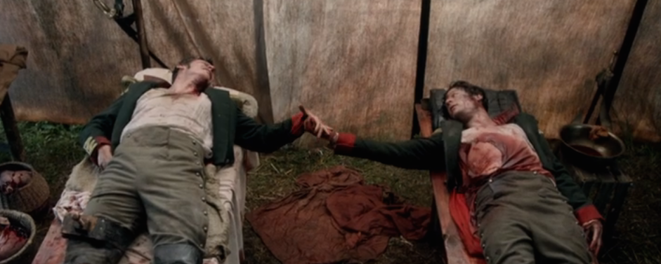 Bolkonsly and Kuragin in the BBC's adaptation of War and Peace - a moment of 'ecstatic pity'
