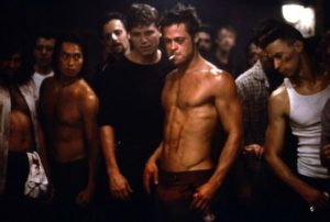 Fight Club - violent apocalypse as the means to male bonding