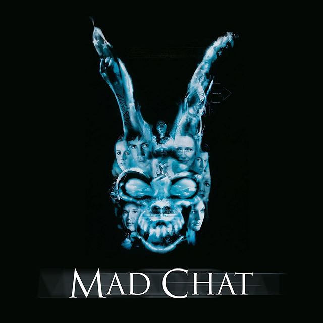 NEW on Mad Chat: Jonah Bossewitch joins @hellosandyallen for Ep 9: Donnie Darko. 🐰 Listen in and subscribe on @applepodcasts (or wherever you get your pods). | art by @chrisritter16