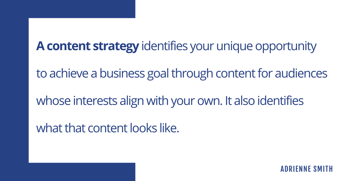 what is a content strategy - a definition from a content strategy consultant for startups