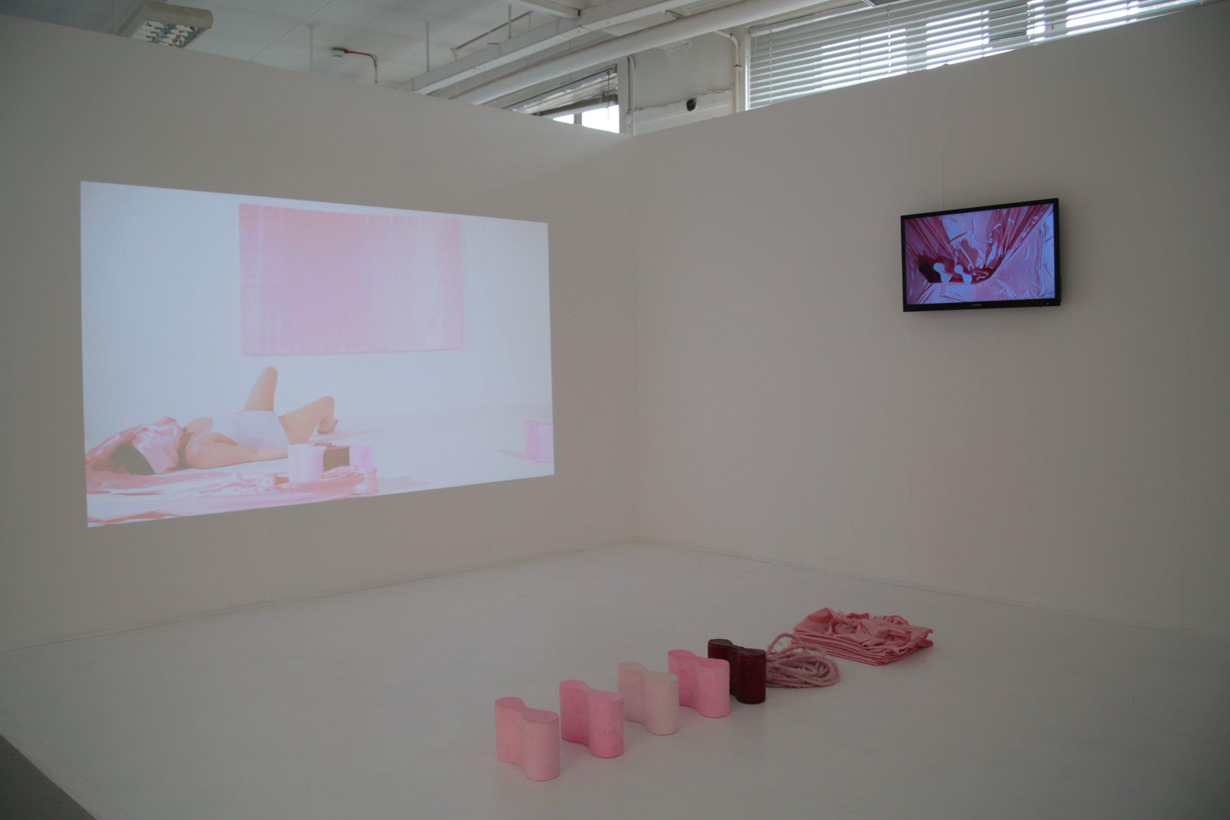 Restraint, Two Channel Video Installation  Glasgow School of art Degree Show June 2018