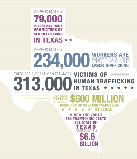 Busch-Armendariz, N.B., Nale, N.L., Kammer-Kerwick, M., Kellison, B., Torres, M.I.M., Cook Heffron, L., Nehme, J. (2016). Human Economic Impact for Texas. Austin, TX: Institute on Domestic Violence & Sexual Assault, The University of Texas at Austin.