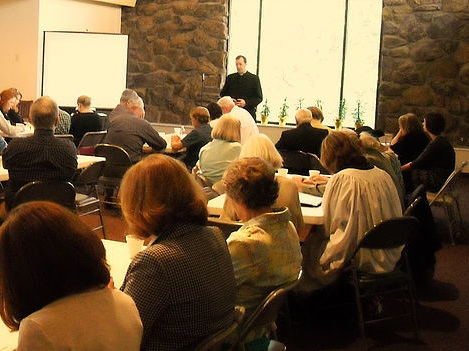 Sunday Adult Christian Education - During the school year, adults meet for Christian education between our church services (9:15-10:00) in the parish hall, upstairs off the main gathering area. Click to learn more.