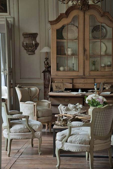 Authentic French Country Living Room, French Decor Furniture