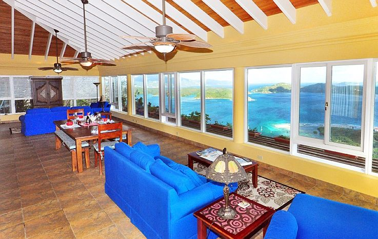 Wonderful house with amazing view - April 2019  This was our 4th trip to St John's and 3rd time renting Moonswept. My husband and I have two young boys (9 & 11) and we all love our Spring breaks at Moonswept. We'd highly recommend this house to families with any age kids or 2 couples. The house and grounds are beautifully maintained and the view is breathtaking!! It is a great location with a short drive to many beaches and fun restaurants. The pool and jacuzzi allow for a lazy late afternoon swim after a day at the beach. We were so happy to see St John come back after the hurricanes in 2017 and all the residents are friendly and happy to see the tourists return to their amazing island.  The owners and caretaker are so helpful and trustworthy I highly recommend booking directly with them and not through other online rental companies.