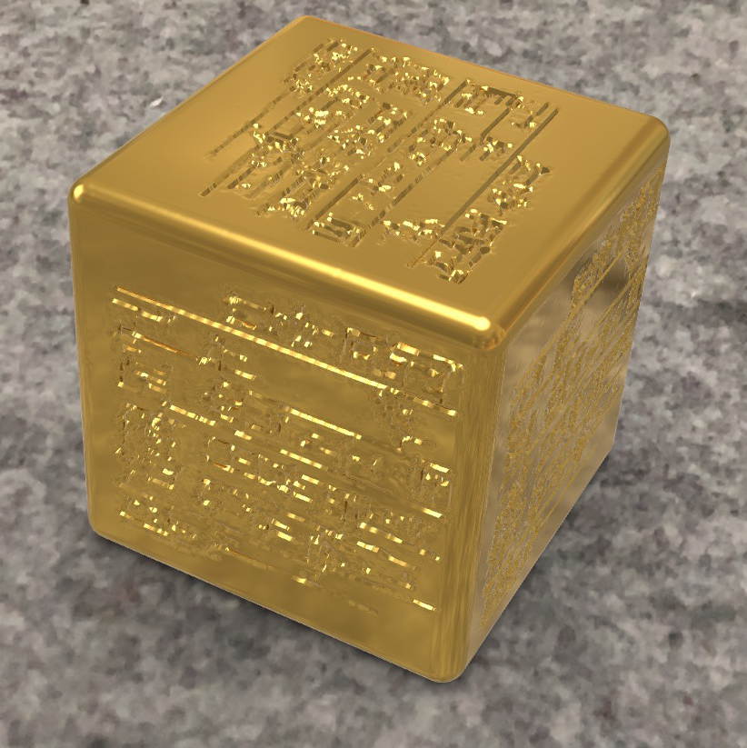 AR version of AI cuneiform - get your own cube on mobile iOS via the QuickLook symbol in the top right corner