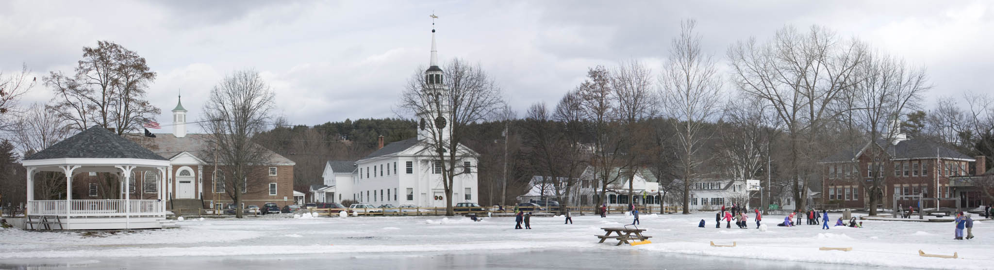 The Town Green in Norwich, Vermont