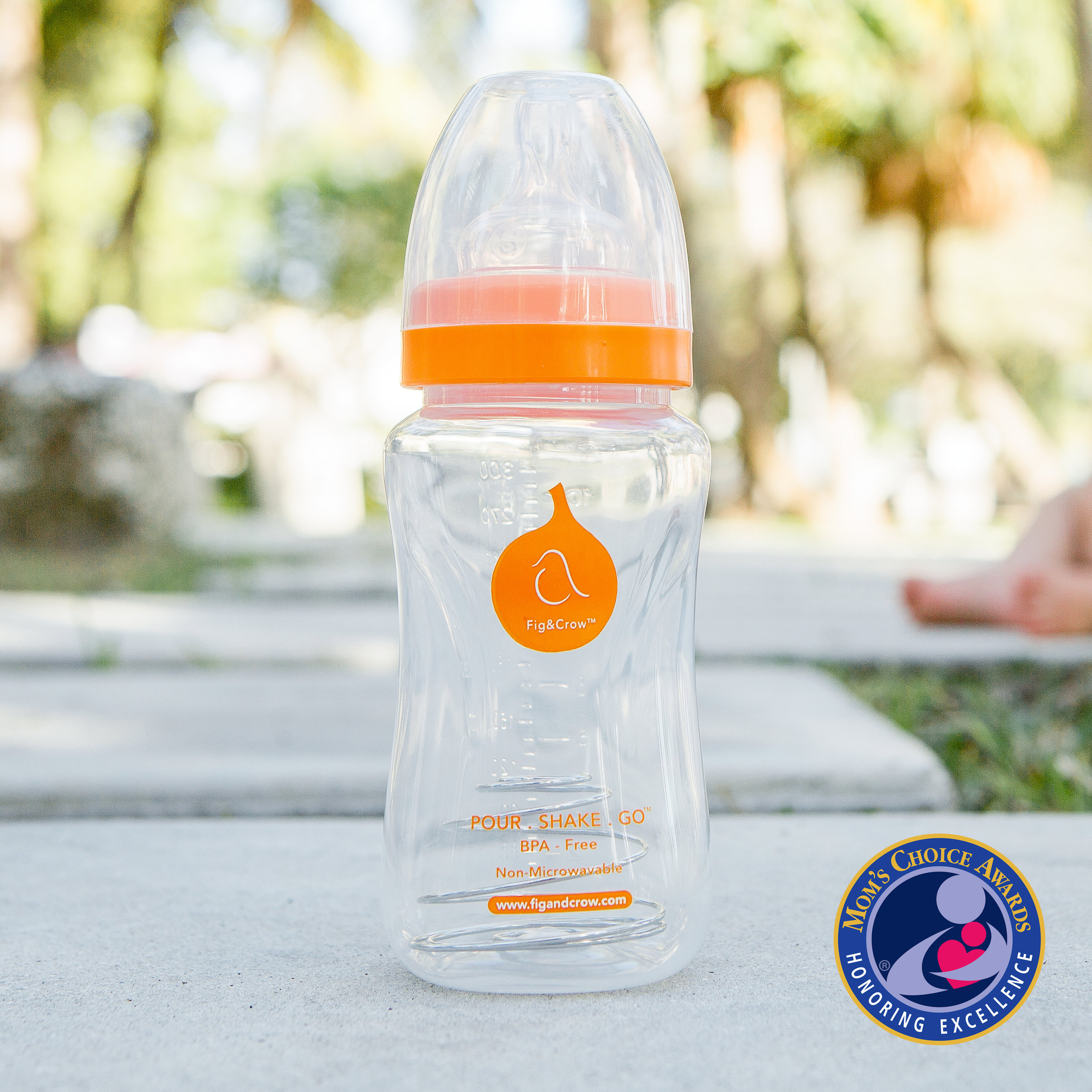 POUR . SHAKE . GO - The Ultimate Feeding Bottle For The Parent On The Go- 10 oz. Wide-Neck Bottle- BPA, Phthalate and PVC Free- 100% Food Grade Liquid Silicone Rubber Nipple- PP (Polypropylene) Bottle- USA Made, Food Grade Stainless Steel Coil- Non-Removable Coil- Dishwasher Safe- Non-toxic- Non-microwaveable- Recommended For Ages 6+ MonthsWinner of Mom's Choice Gold Award Honoring Excellence