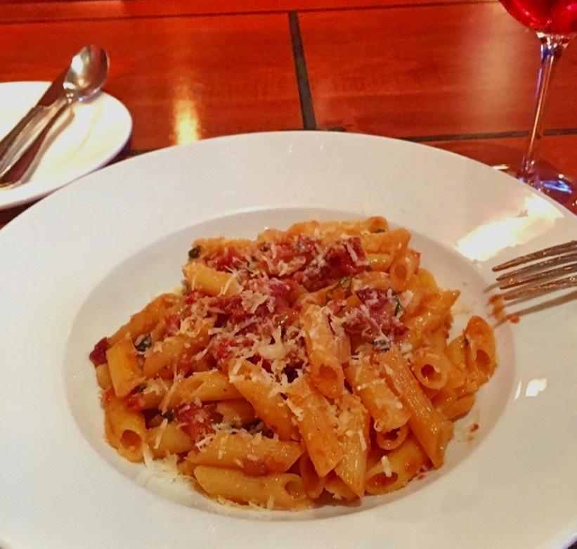 - spaghetti amatriciana at Gusto di Quattro