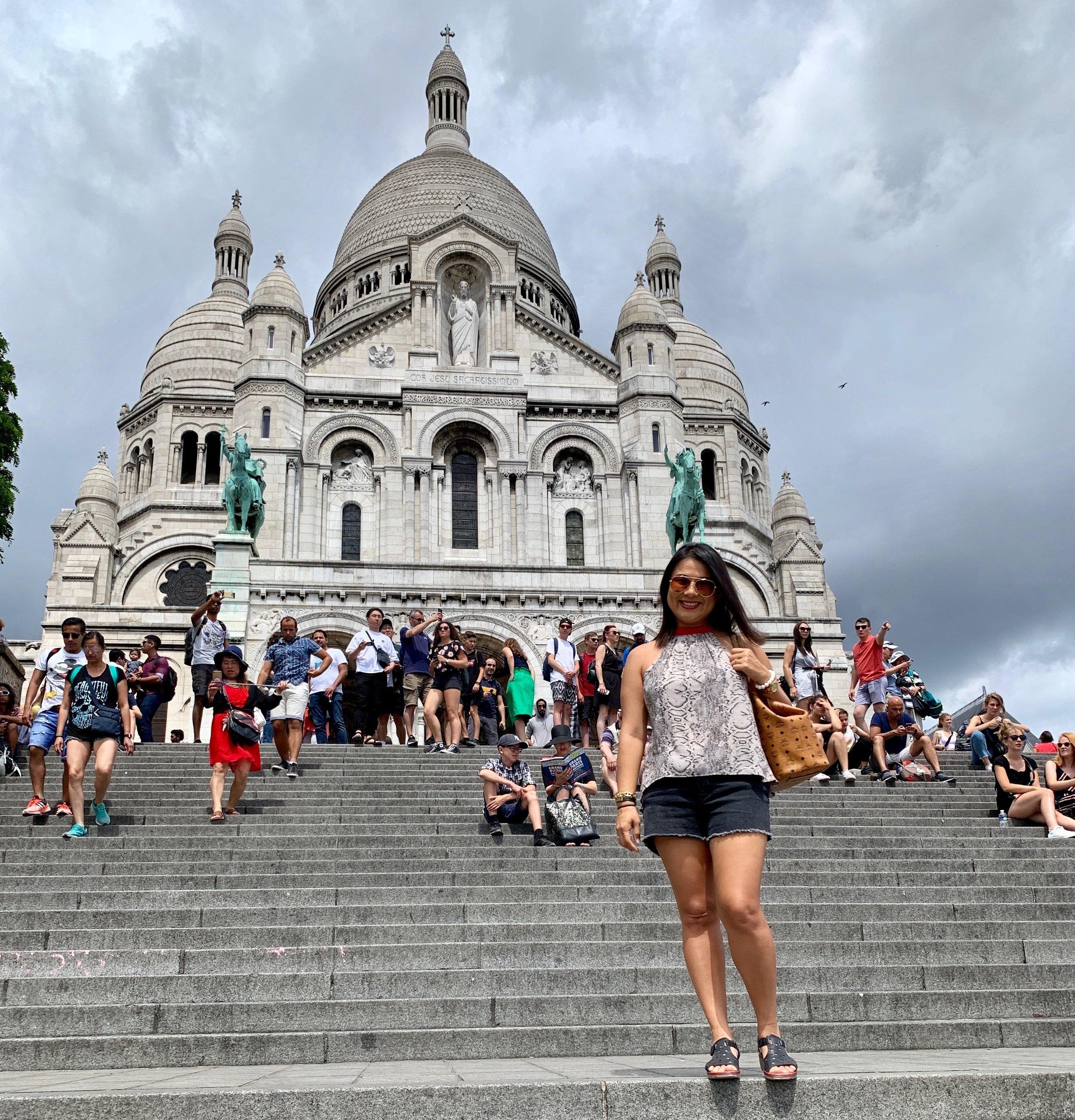 In front of Sacré-Cœur