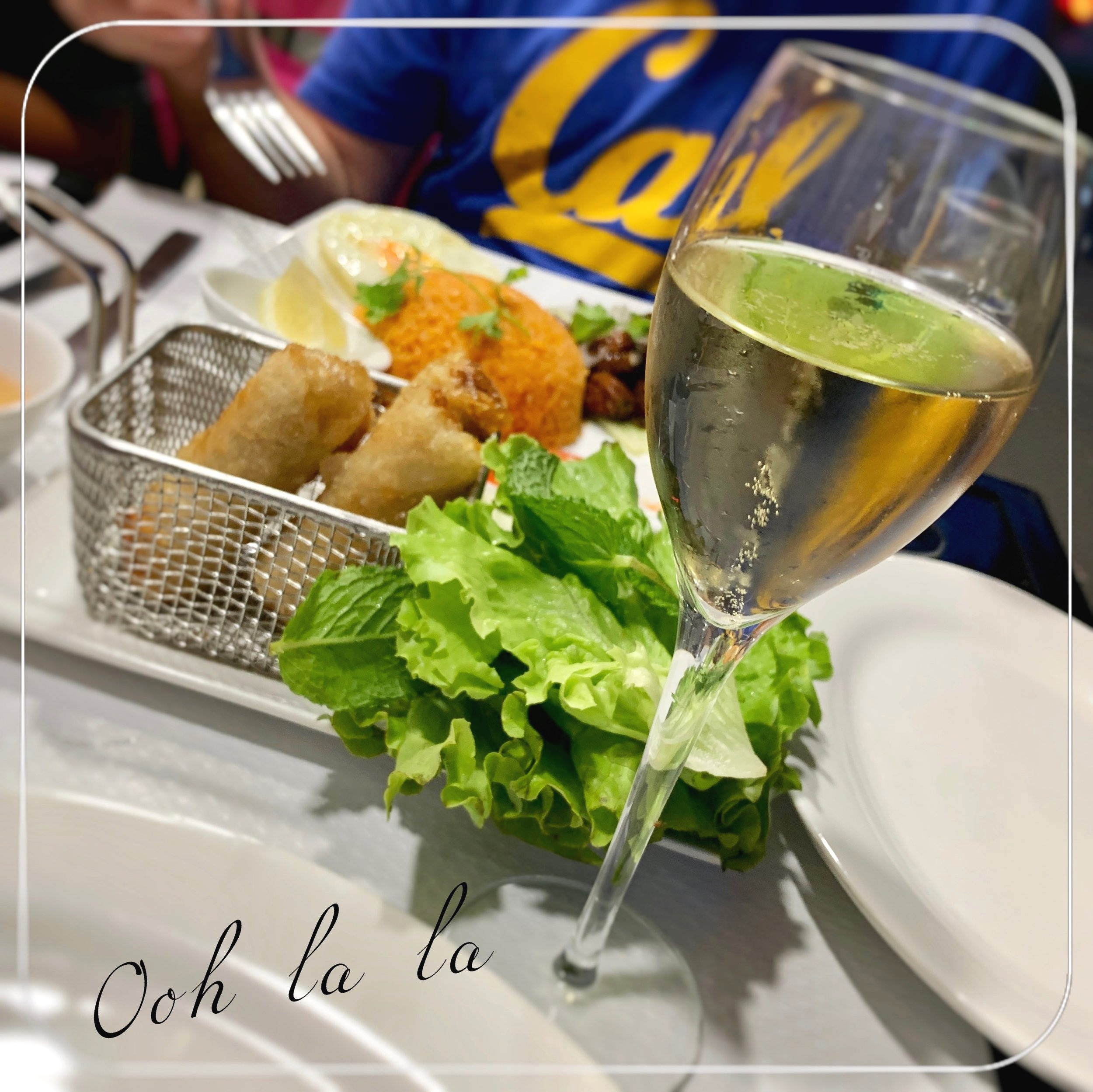 Imperial Rolls & champagne  are you sick of this Cal shirt? Me too!