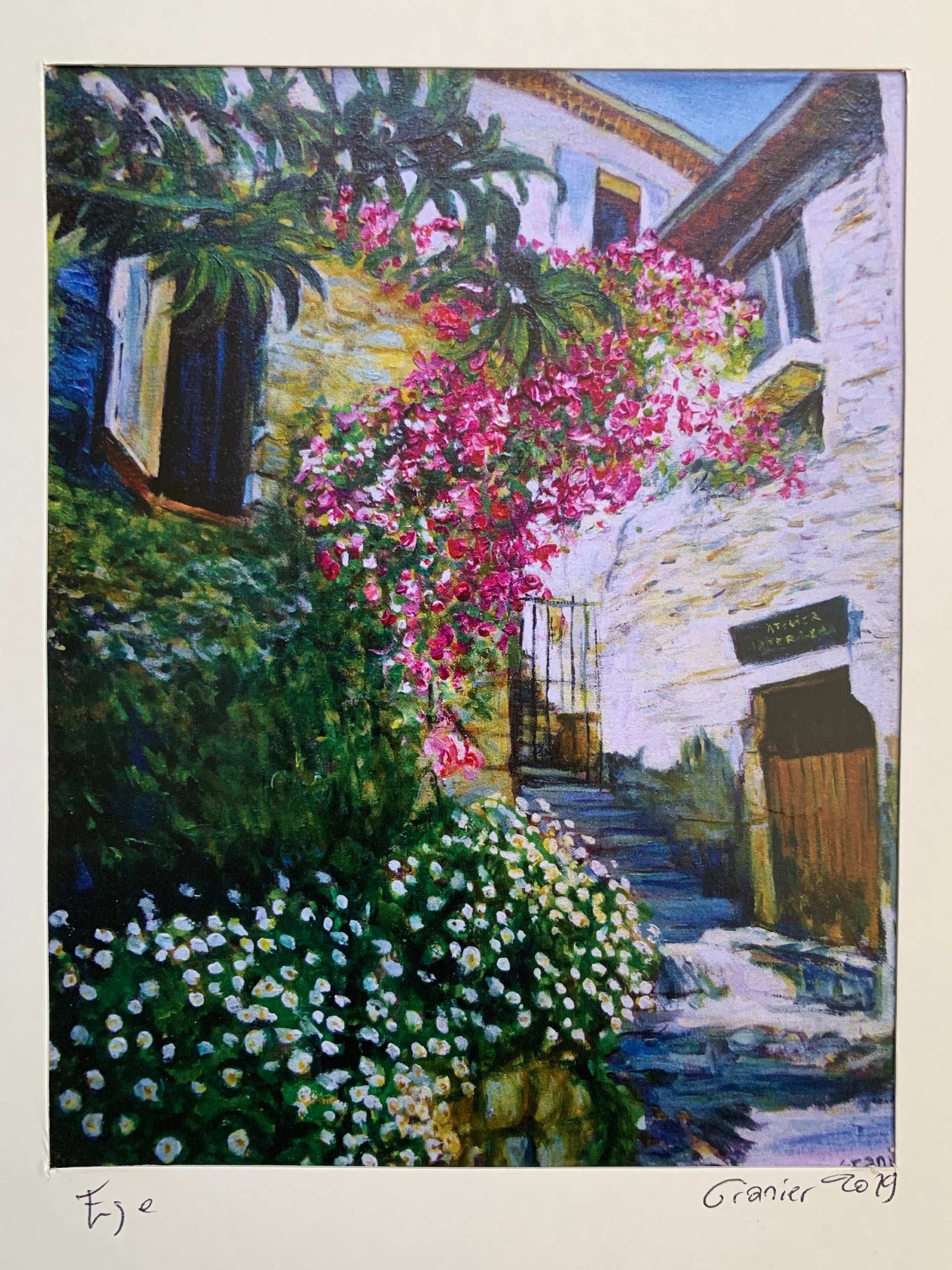 A piece of art I picked up at the Flower Market in Nice of Eze