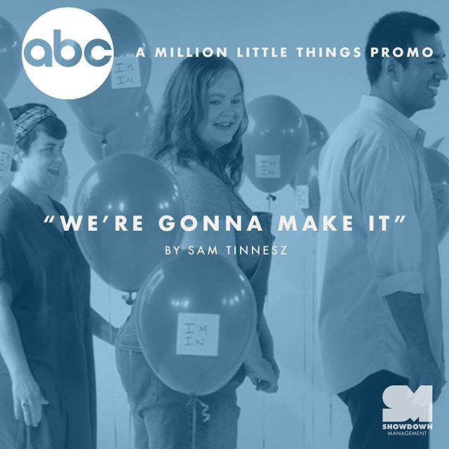"TONIGHT. Listen for @samtinnesz ""We're Gonna Make It"" on the new @millionlittlethingsabc promo- airing during @bachelorinparadise.  Psst- or you can preview it now at the link in our bio thanks to @adweek."
