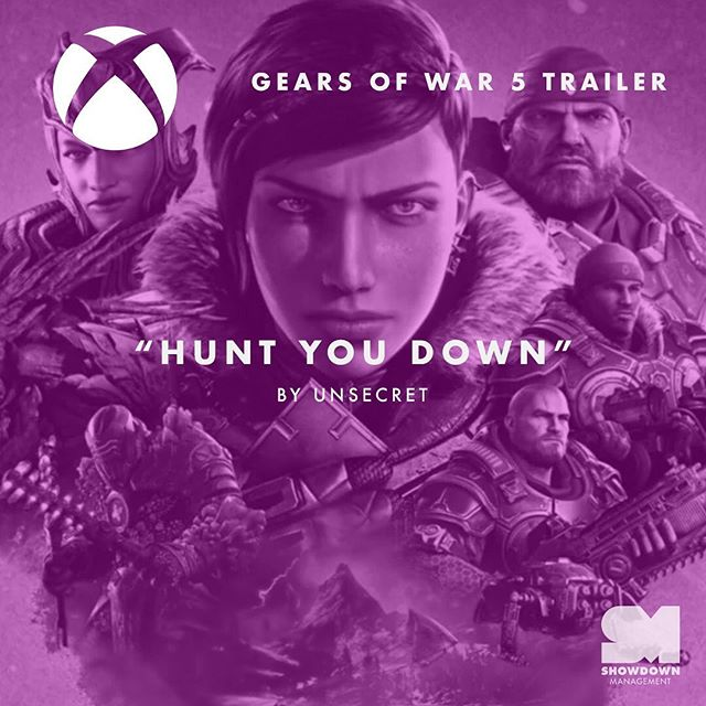 "Such an epic use of ""HUNT YOU DOWN"" by @whoisunsecret and @thisisvo in the @xbox @thegearsofwar trailer. If you haven't seen it yet- full link in our bio!"