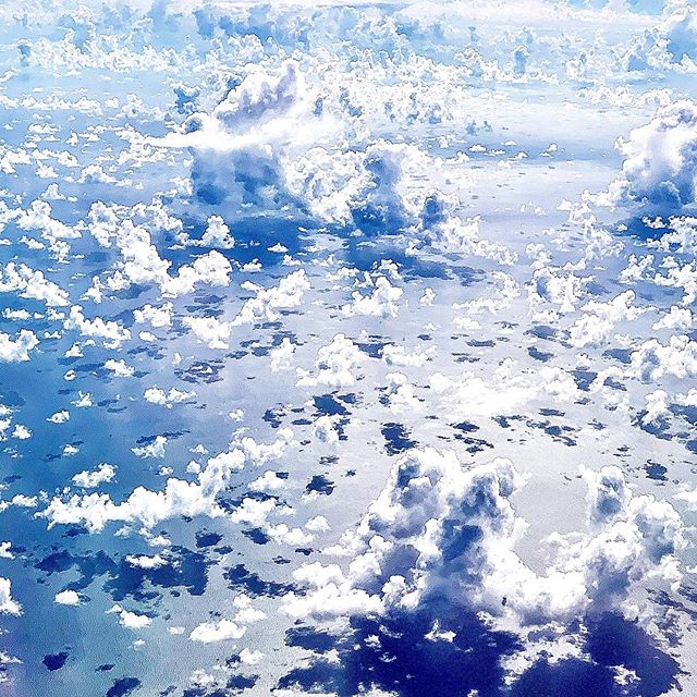 This is what I see. #cloudcities#30,000ft#carribean#calmseas#tranquilo