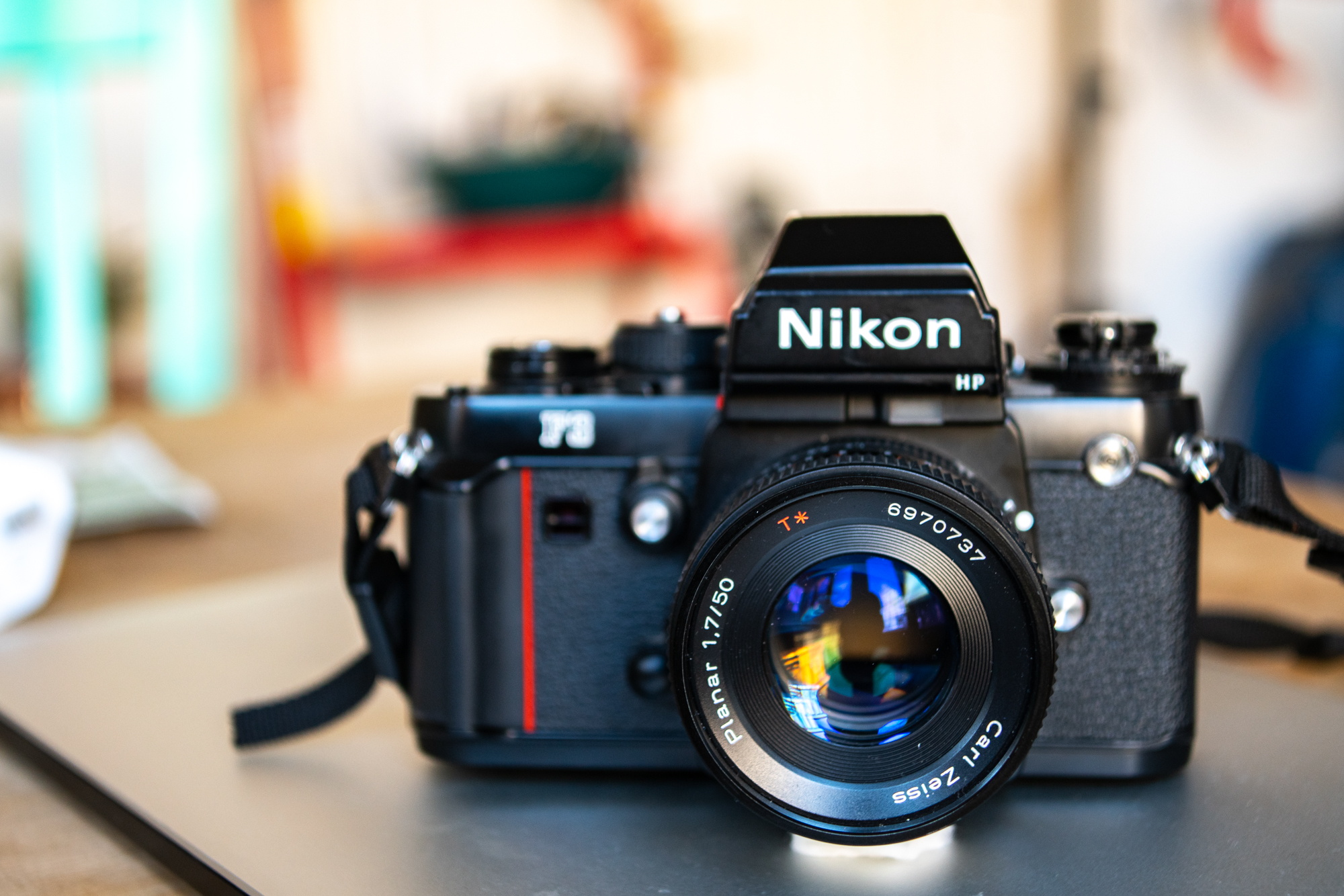 Nikin F3 with Contax Zeiss Planar (adapted to F mount)