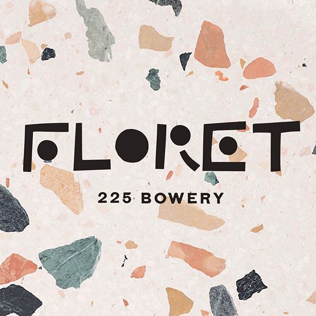 Coming together, open soon. Floret is outfitted in custom terrazzo and lots of wine.