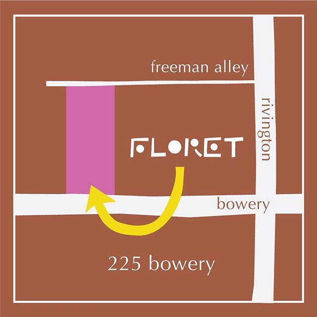Floret lives here. You're invited over as soon as we open, promise.