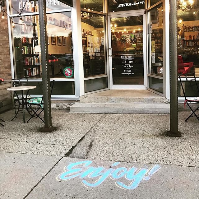 Enjoy! #mkeingcoffee #chocolateshoppeicecream #ourneighborhood #ourcity #milwaukee