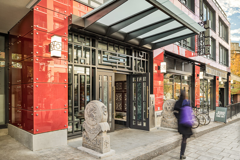 """The design isn't trying too hard to be """" Chinesey """", and in doing such seems very at-home and well placed in the neighborhood."""