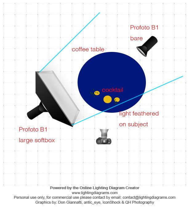 Douglas Fir Lighting Diagram - Jeremy Segal Photography
