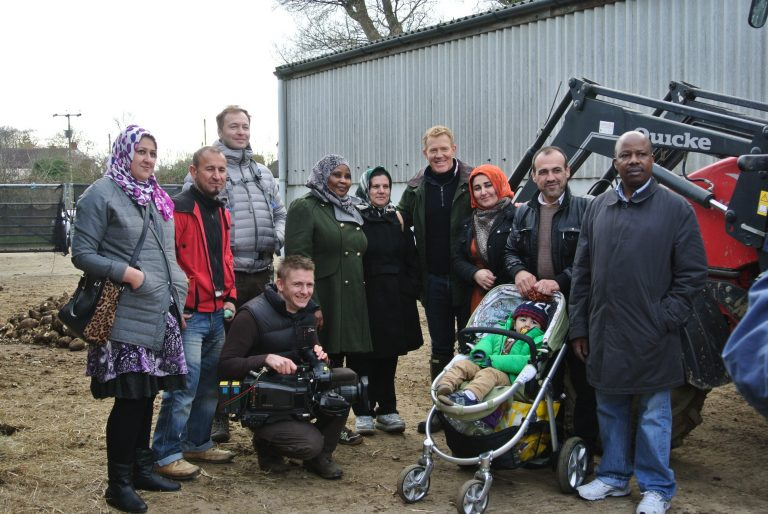 BBC Countryfile film at Clinks Care Farm to promote the farms work with the refugee community.