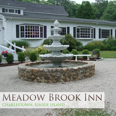 The Meadow Brook Inn in Charlestown - www.meadowbrookinnri.com has a wonderful outdoor chapel, with a cute bridge over a small brook as you cross into the chapel area. There is fine indoor dining and a large reception room. Call Marisa or Gabe Rizzo at 401-364-3669 (they are great people!).