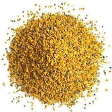 Bee Pollen - We use it for:  Allergies, quick energy, asthma, hay fever, slowing down aging. 35% protein. Increases resistance to diseases. Considered a sexual rejuvenant.