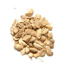 Ginger Root - We use it for:  Gas, motion sickness, flu, diarrhea, stomach disorders, nausea, colds, colitis. Hot tea promotes sweating. Absorbs toxins and helps control flu symptoms. Increases circulation and lowers cholesterol.   Magickal:  Love, lust, prosperity, magical power, success, good health. Use in consecration rites for athames.