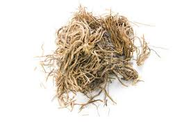 Vetiver - We use it for:  Digestion, encouraging menstruation, parasites. In paste on skin: increasing sweating, fevers, flus, rheumatism.   Magickal:  Exorcisms, love, luck, prosperity, protection, ward against negativity, hex-breaking, anti-theft