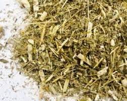 Wormwood - We use it for:  Insomnia, digestion, expels all worms and parasites. CAUTION: Poisonous in moderate and large doses.   Magickal:  Protection, psychic awareness, evocation, divination, scrying, Samhain, safe car travel