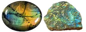 Labradorite -  Protects the aura and helps keep it clear and balanced. Assists one in sustaining and maintaining energy. Brings galactic evolved energies from other worlds to the Earth plane. Great stone for empaths - helps them not carry the burdens of others.