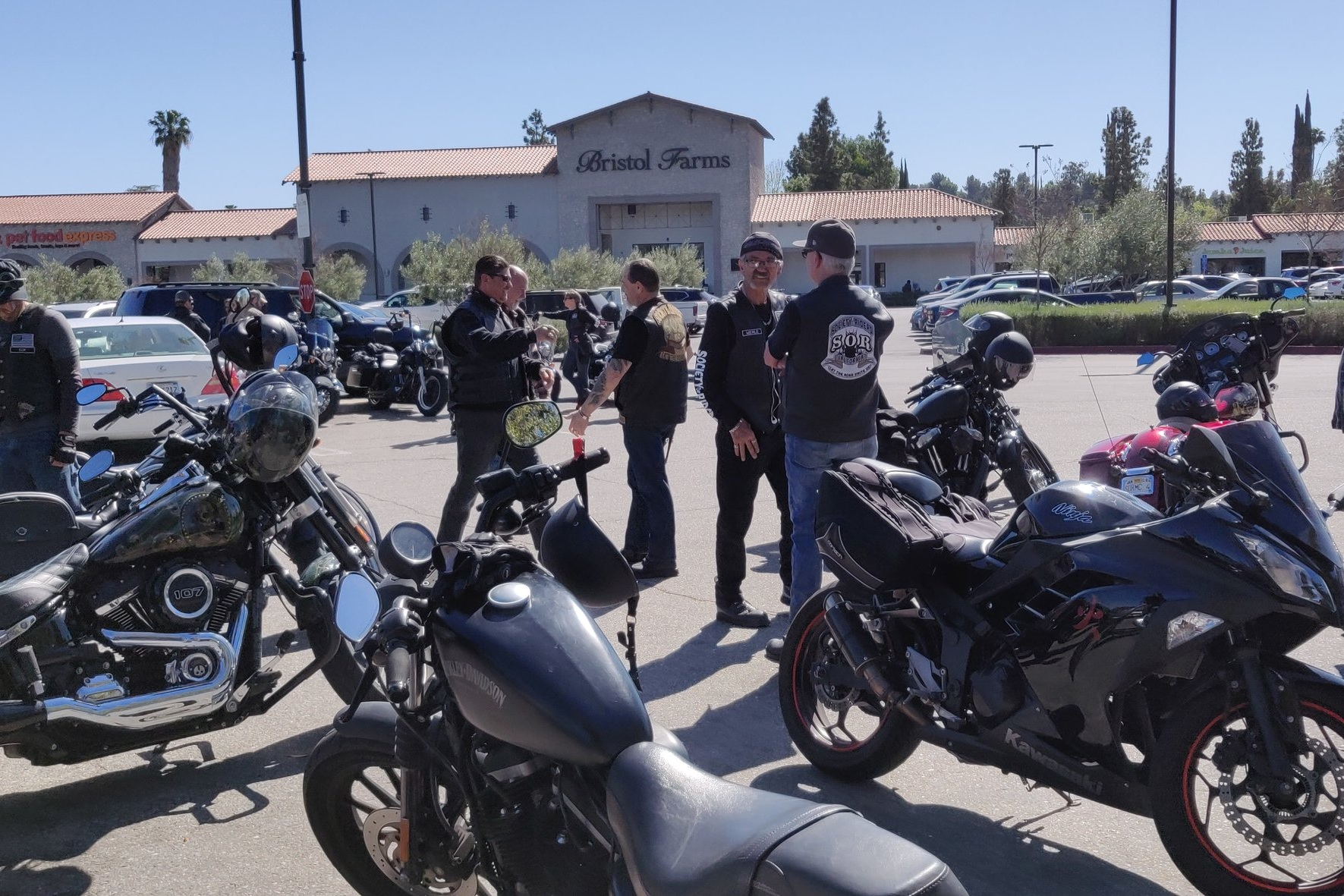Attending a public group ride to meet participants willing to be interviewed