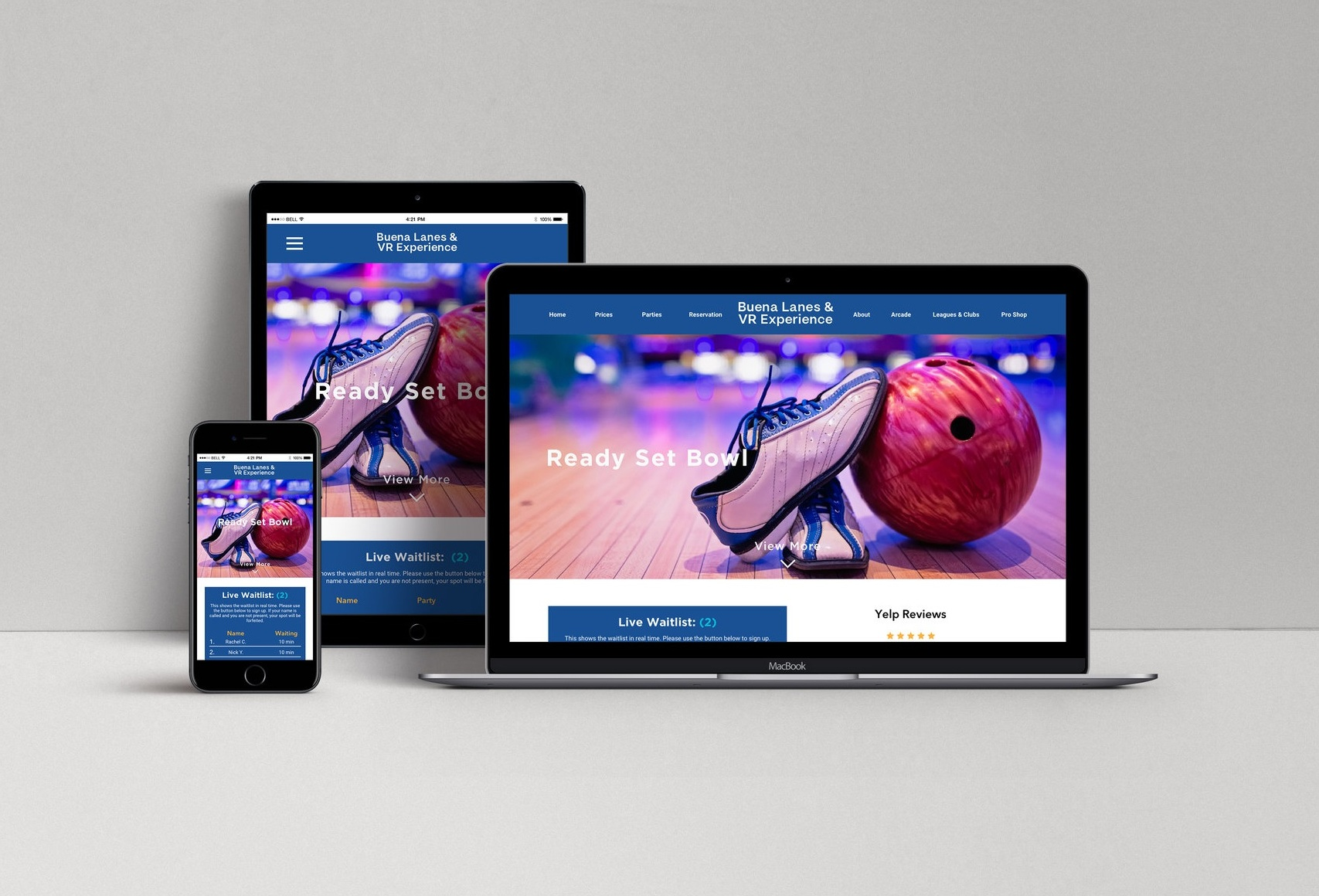 Buena Lanes - Responsive Web Design