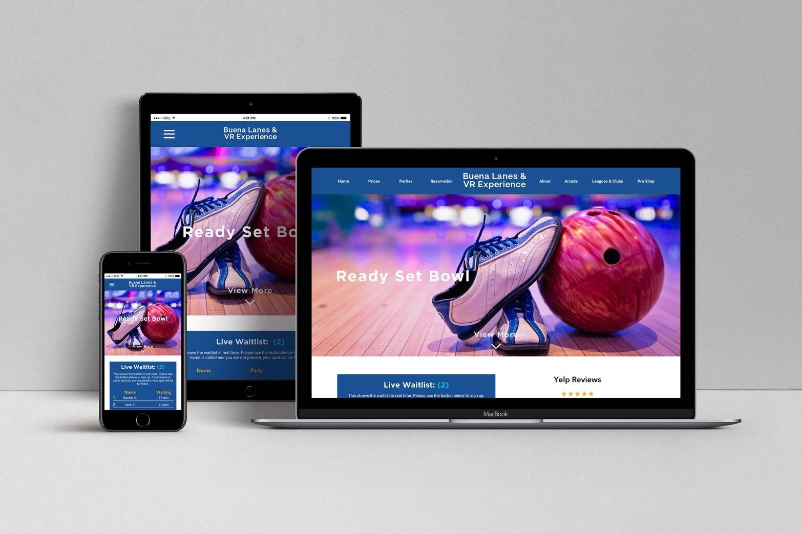 Buena Lanes - (Responsive Web Design)