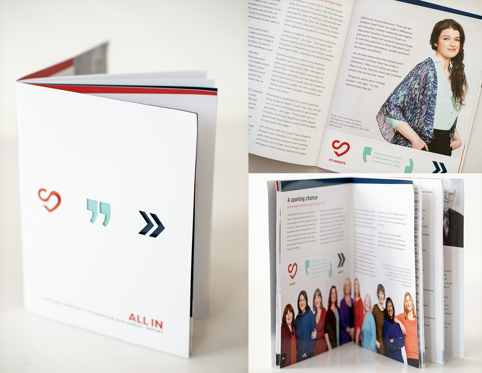 """HCF - """"UR came up with the theme, and its exposition through layout and design captured perfectly the essence of what we are working to help people achieve through their philanthropy: alignment between what they care about and the difference they can make.""""— Grace Diffey"""