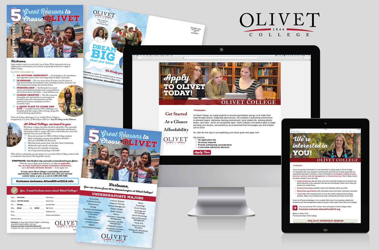 FALL SENIOR SEARCH FOR OLIVET COLLEGE