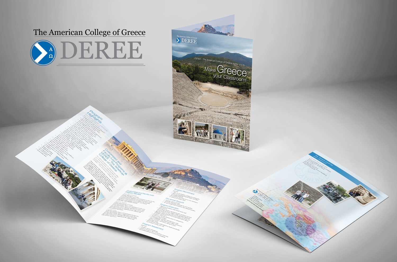 MAKE GREECE YOUR CLASSROOM BROCHURE FOR THE AMERICAN COLLEGE OF GREECE