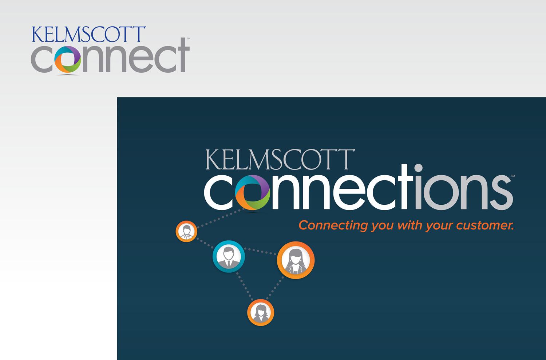 KELMSCOTT CONNECT AND KELMSCOTT CONNECTIONS LOGOS FOR KELMSCOTT COMMUNICATIONS