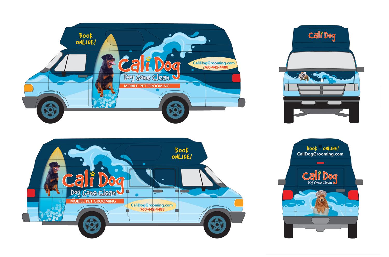 Cali Dog Branding and Van Wrap